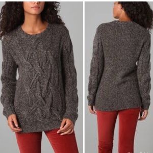 Theory Gray Wool Blend Bramsy Airmix Sweater Sz S